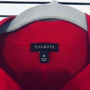 Talbots Jackets & Coats - Talbots Red Knit Blazer